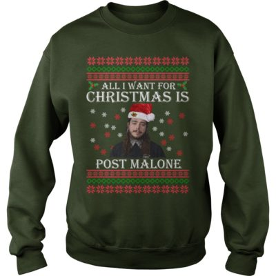 All I want for Christmas is Post Malone sweater 400x400 - All I want for Christmas is Post Malone sweater, long sleeve, t-shirt