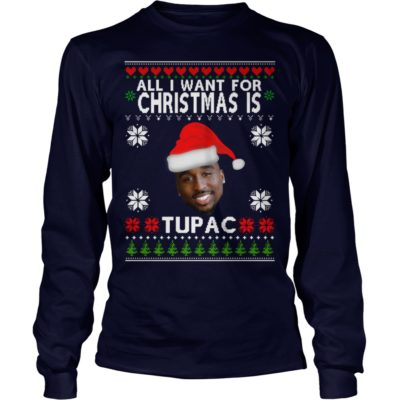 All I want for Christmas is Tupac long sleeve 400x400 - All I want for Christmas is Tupac sweater, hoodie, t-shirt