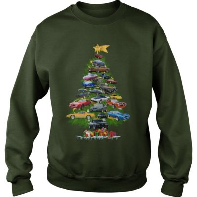 Cars Christmas tree sweater 400x400 - Cars Christmas tree sweatshirt, hoodie, long sleeve, t-shirt