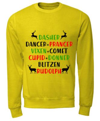 Dasher Dancer Prancer Vixen Comet Cupid Donner Blitzen Rudolph sweatshirt 332x400 - Dasher Dancer Prancer Vixen Comet Cupid Donner Blitzen Rudolph shirt
