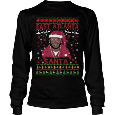 East Atlanta Santa Christmas With Gucci Mane Sweater Hoodie Rockatee
