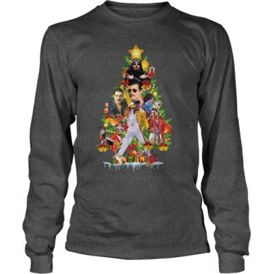 Freddie Mercury Christmas tree long sleeve 400x400 - Freddie Mercury Christmas tree sweatshirt, hoodie, long sleeve