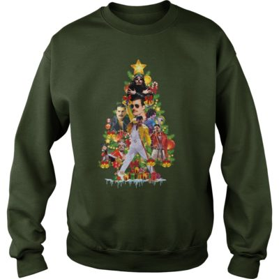 Freddie Mercury Christmas tree sweater 400x400 - Freddie Mercury Christmas tree sweatshirt, hoodie, long sleeve