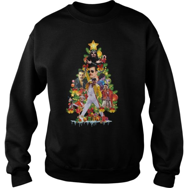 Freddie Mercury Christmas tree sweatshirt 600x600 - Freddie Mercury Christmas tree sweatshirt, hoodie, long sleeve