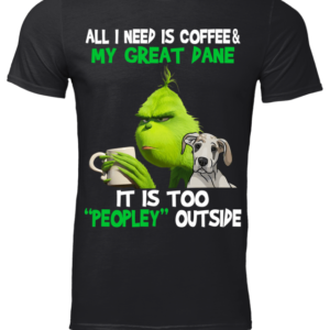 GREAT DANE copy men s t shirt black front 300x300 - The Grinch all I need is Coffee & my great Dane shirt, hoodie, sweatshirt
