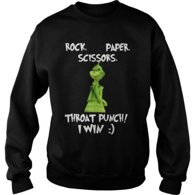 The Grinch Rock paper scissors throat punch I win sweater 400x400 - The Grinch Rock paper scissors throat punch I win shirt, sweater, hoodie