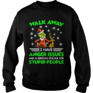 The Grinch Walk away I have anger Issues and a serious Dislike for stupid people t shirt 300x300 - The Grinch Walk away I have anger Issues Christmas sweater