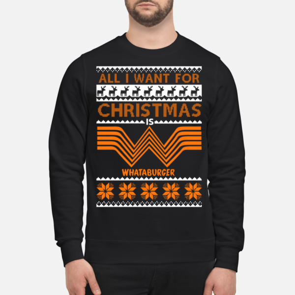 all i want for christmas is whataburger sweatshirt unisex sweatshirt jet black front 2 600x600 - All I want for Christmas is Whataburger sweatshirt, long sleeve