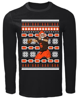 baker mayfield christmas sweatshirt men s long sleeved t shirt black front 320x400 - Baker Mayfield Christmas sweatshirt, hoodie, t-shirt, long sleeve