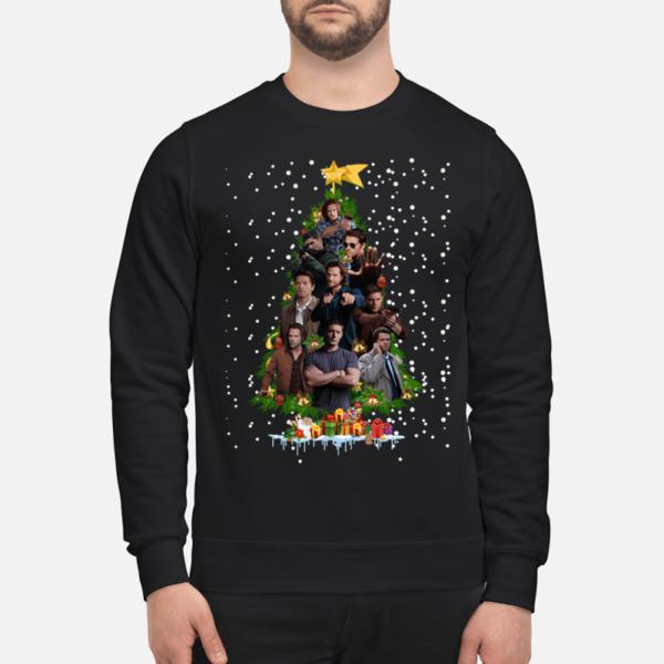 dean winchester christmas tree sweatshirt unisex sweatshirt jet black front 1 600x600 - Dean Winchester Christmas tree sweatshirt, hoodie, t-shirt