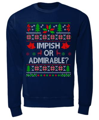 impish or admirable sweatshirt unisex sweatshirt oxford navy front 332x400 - Impish or Admirable sweatshirt, hoodie, long sleeve, t-shirt