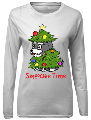 smoochie time christmas sweatshirt women s long sleeved t shirt white front 304x400 - Smoochie time Christmas sweatshirt, hoodie, long sleeve, t-shirt