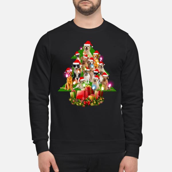 the dogs christmas tree sweatshirt unisex sweatshirt jet black front 600x600 - The Dogs Christmas tree sweatshirt, hoodie, t-shirt