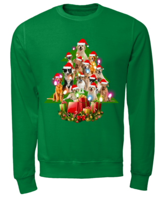 the dogs christmas tree sweatshirt unisex sweatshirt kelly green front 332x400 - The Dogs Christmas tree sweatshirt, hoodie, t-shirt
