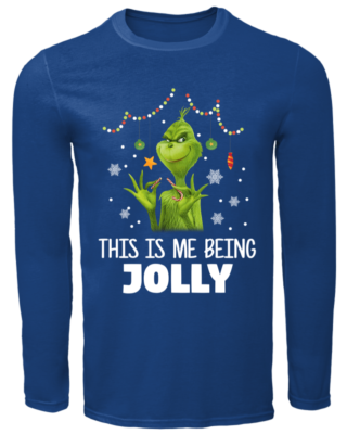 the grinch this is me being jolly sweatshirt men s long sleeved t shirt royal front 320x400 - The Grinch This is me being Jolly sweatshirt, hoodie, long sleeve