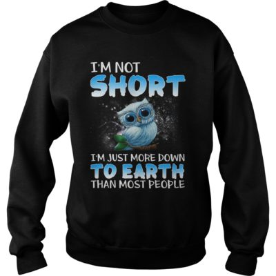 Tiny Baby Blue Owl Im short im just more down to earth than most people sh 400x400 - Tiny Baby Blue Owl I'm short i'm just more down to earth than most shirt