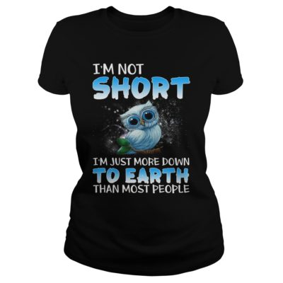 Tiny Baby Blue Owl Im short im just more down to earth than most people shirtv 400x400 - Tiny Baby Blue Owl I'm short i'm just more down to earth than most shirt
