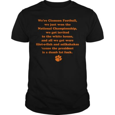 gg 1 400x400 - We're clemson football we just won the national championship shirt