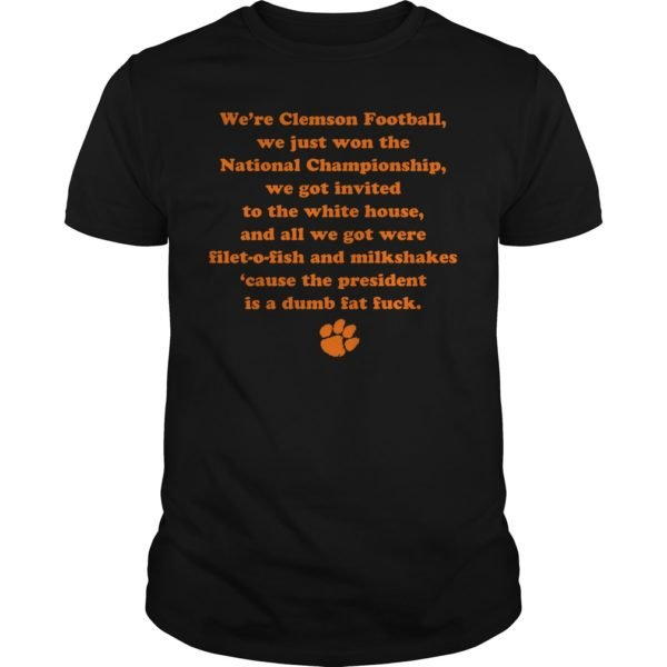 gg 1 600x600 - We're clemson football we just won the national championship shirt