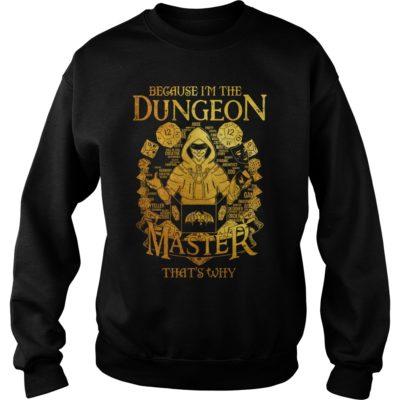 Because im the dungeon master shi 400x400 - Because i'm the Dungeon Master that's why shirt