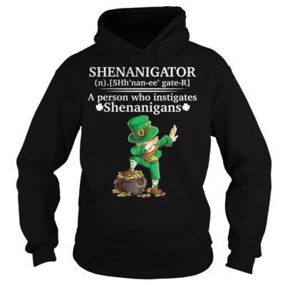 dddddd 400x400 - Shenanigator a person who instigates Shenanigans shirt