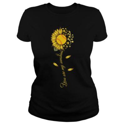 You are my sunshine shirtv 400x400 - You are my sunshine sunflower softball shirt