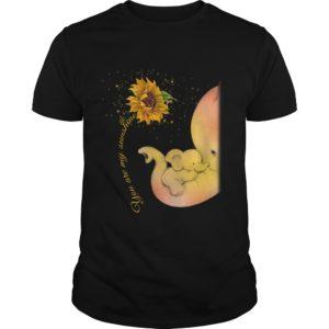 elephant 300x300 - Elephant sunflower you are my sunshine shirt