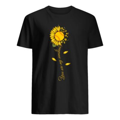 sunflower you are my sunshine shirt men s t shirt black front 400x400 - Sunflower you are my sunshine softball shirt