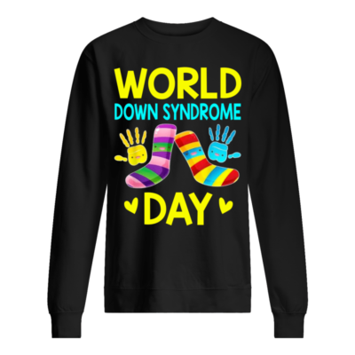 world down syndrome day shirt unisex sweatshirt jet black front 400x400 - World down syndrome day shirt, hoodie