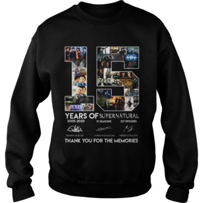 15 Years of Supernatural thank you for the memories shir 400x400 - 15 Years of Supernatural thank you for the memories shirt