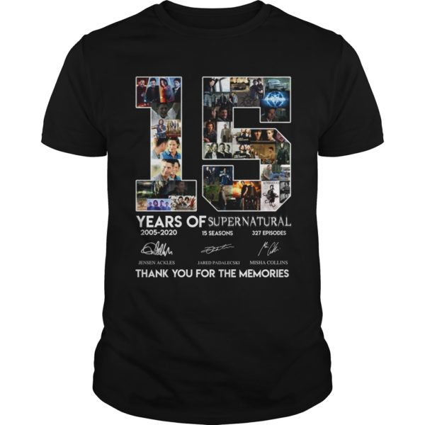 15 Years of Supernatural thank you for the memories shirt. 600x600 - 15 Years of Supernatural thank you for the memories shirt