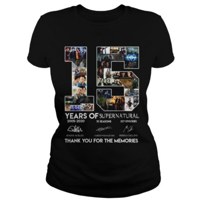 15 Years of Supernatural thank you for the memories shirt.v 400x400 - 15 Years of Supernatural thank you for the memories shirt