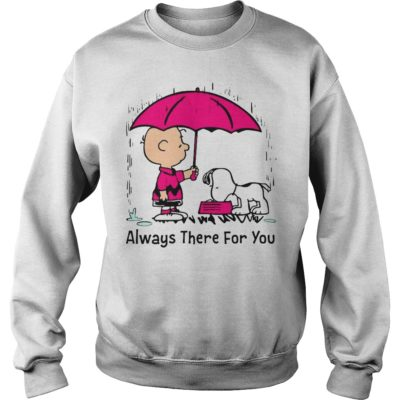 Snoop 400x400 - Charlie Brown and Snoopy always there for you shirt