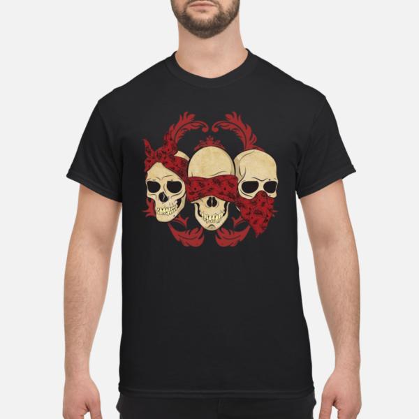 skull hear no speak no see no shirt men s t shirt black front 1 600x600 - Skull Hear no speak no see no shirt, hoodie