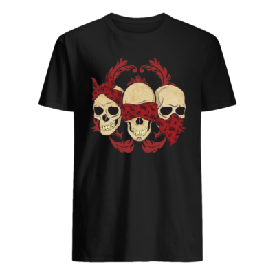 skull hear no speak no see no shirt men s t shirt black front 400x400 - Skull Hear no speak no see no shirt, hoodie