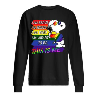 snoopy i am brave i am bruised i am who to be shirt unisex sweatshirt jet black front 400x400 - Snoopy i am brave i am bruised i am who to be shirt