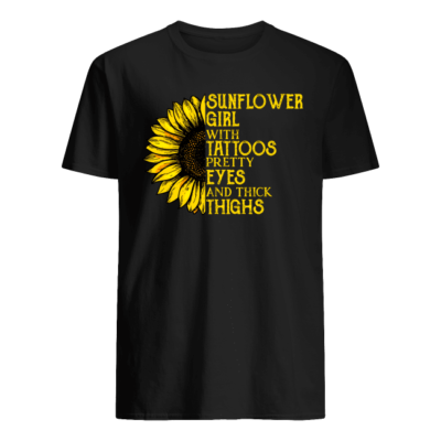 sunflower girl with tattoos pretty eyes and thick thighs shirt men s t shirt black front 400x400 - Sunflowers girl with tattoos pretty eyes and thick thighs shirt