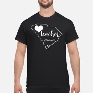 teache shirt men s t shirt black front 1 300x300 - Teacher red for ed South Carolina shirt
