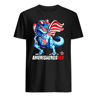 4th of july amerisaurus rex shirt men s t shirt black front 400x400 - 4th of July Amerisaurus Rex shirt