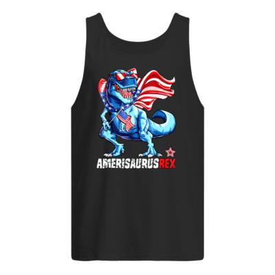 4th of july amerisaurus rex shirt men s tank top black front 400x400 - 4th of July Amerisaurus Rex shirt