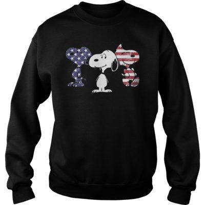 Three Snoopy american fl 400x400 - Three Snoopy American flag shirt
