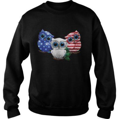 Three owl America f 400x400 - Three owl America flag shirt, hoodie
