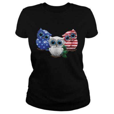 Three owl America fl 400x400 - Three owl America flag shirt, hoodie