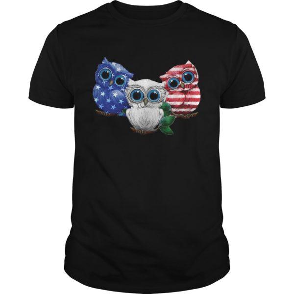 Three owl America flag 600x600 - Three owl America flag shirt, hoodie