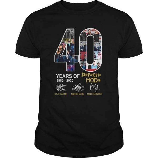 Years of Depeche 19802020 Shirt 600x600 - 40 Years of Depeche Mode 1980-2020 shirt