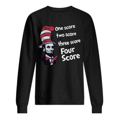 dr seuss one score two score three score four score shirt unisex sweatshirt jet black front 400x400 - Dr Seuss one score two score three score four score shirt