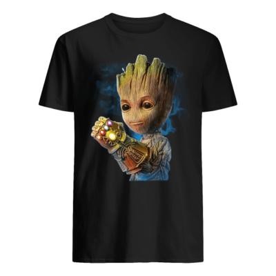 groot the infinit gauntlet shirt men s t shirt black front 400x400 - Groot The Infinity Gauntlet shirt
