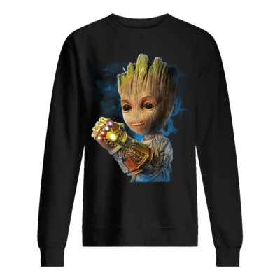 groot the infinit gauntlet shirt unisex sweatshirt jet black front 400x400 - Groot The Infinity Gauntlet shirt