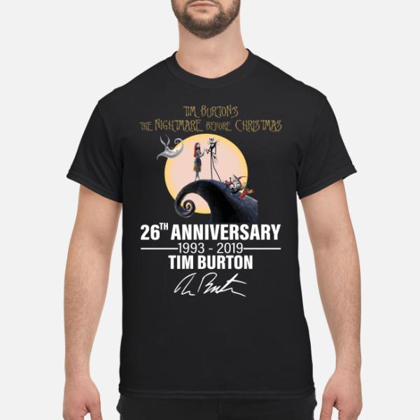 tim burtons the nightmare before christmas 26th university shirt men s t shirt black front 1 600x600 - Tim Burton's the Nightmare before Christmas 26th university shirt