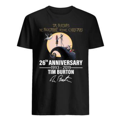 tim burtons the nightmare before christmas 26th university shirt men s t shirt black front 400x400 - Tim Burton's the Nightmare before Christmas 26th university shirt